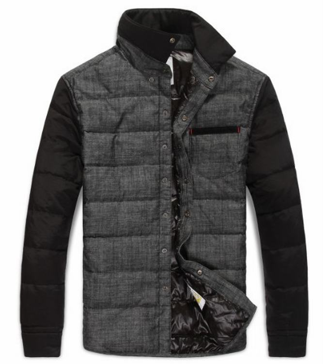 Moncler Anser Men Jacket Grey Black