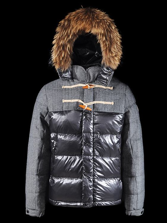 Moncler Anthime Men Jacket Grey Blue