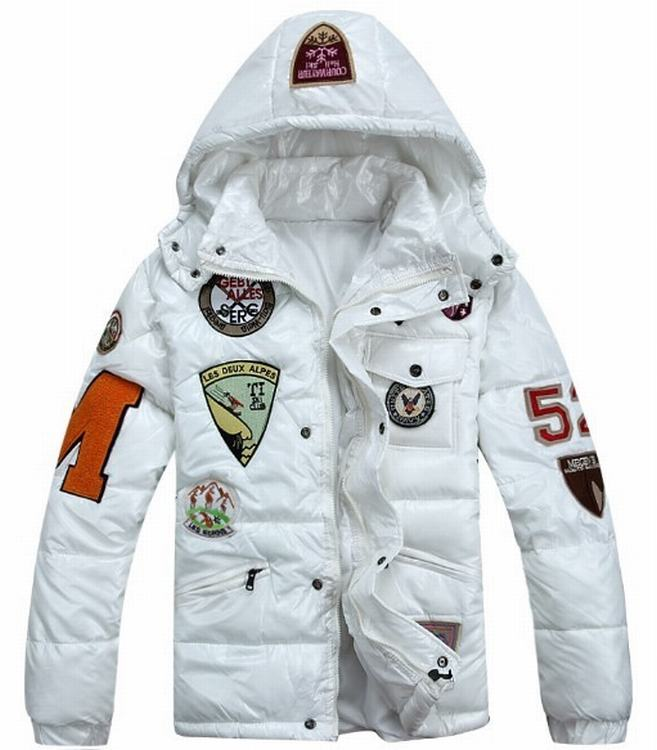 Moncler Badges Men Jacket White