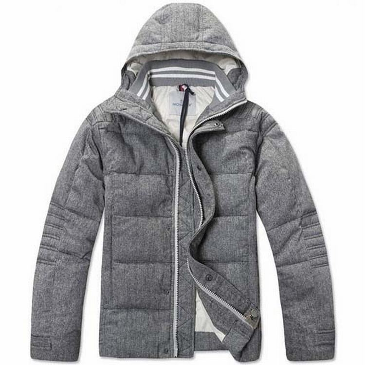 Moncler Briac Men Jacket Grey White
