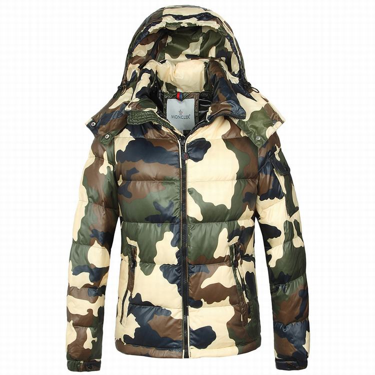 Moncler Camouflage Men Jacket Cream White