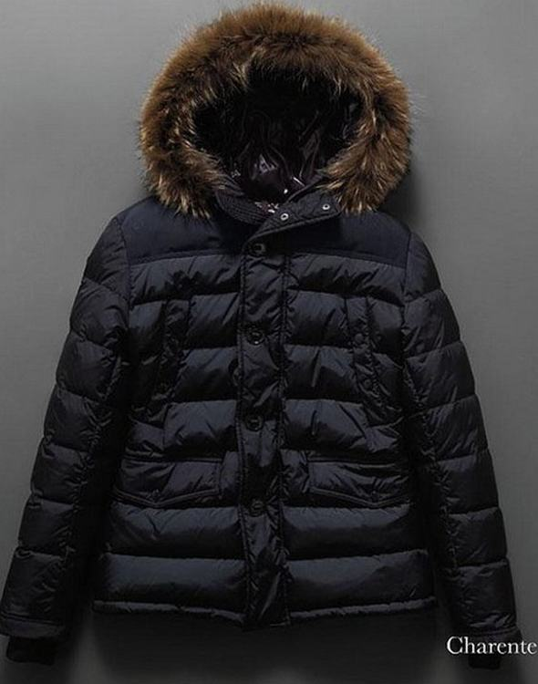Moncler Charente Men Jacket Dark Blue