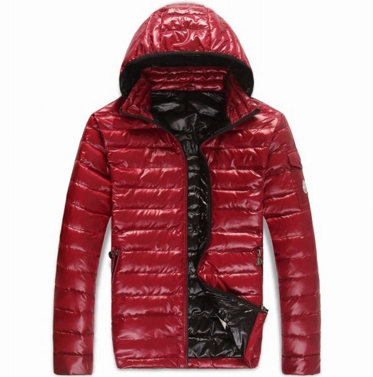 Moncler Guste Men Jacket Red Black