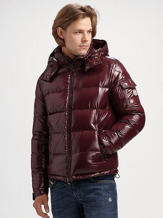 Moncler Maya Men Jacket Wine Red