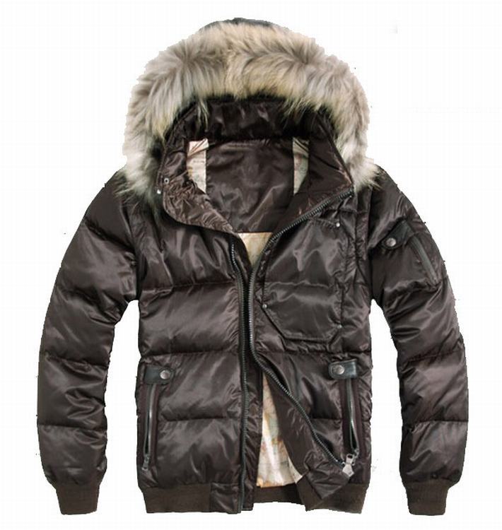 Moncler Outwear 05 Men Jacket Brown Red