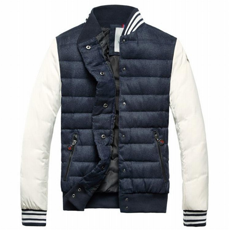 Moncler Perigord Men Jacket Dark Blue White