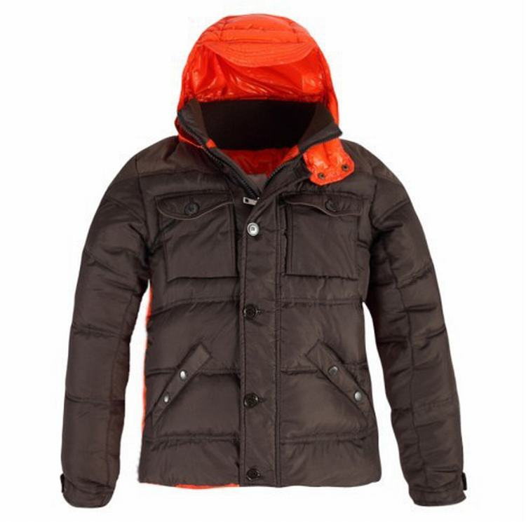 Moncler Rentilly Men Jacket Brown Orange