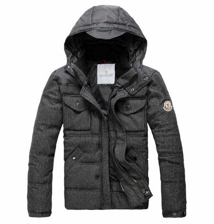 Moncler Republique 02 Men Jacket Dark Grey
