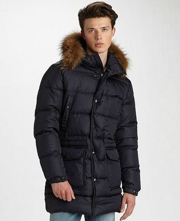 Moncler Riviere Men Jacket Dark Blue