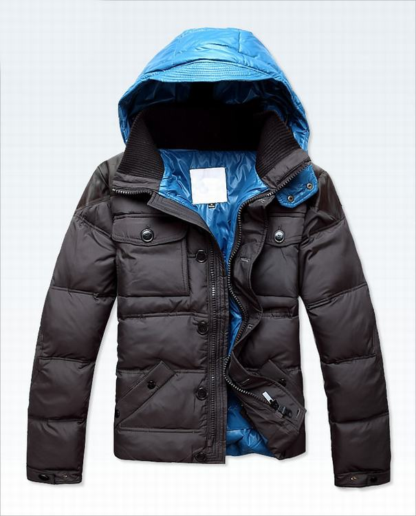 Moncler Rousseau Men Jacket Grey Blue