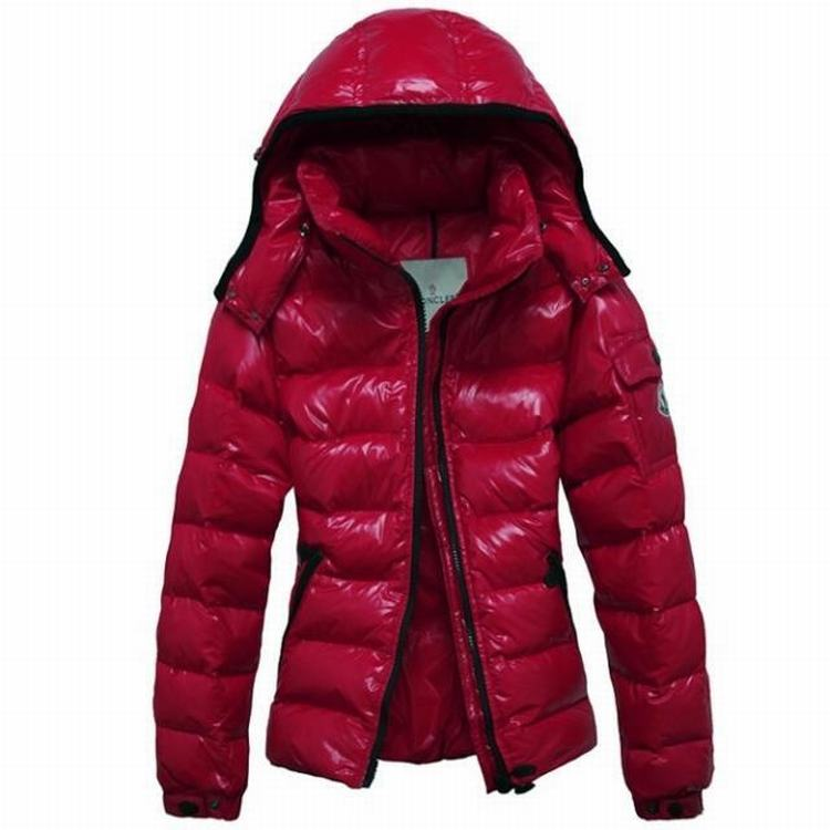 Moncler Bady Mabel Quilted Women Hooded Jacket Red