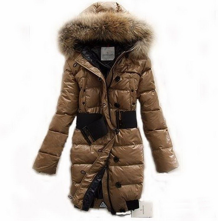 Moncler Lucie Women Jacket Yellowish Brown