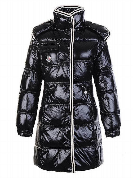 Moncler Quancy Women Long Jacket Dark Blue