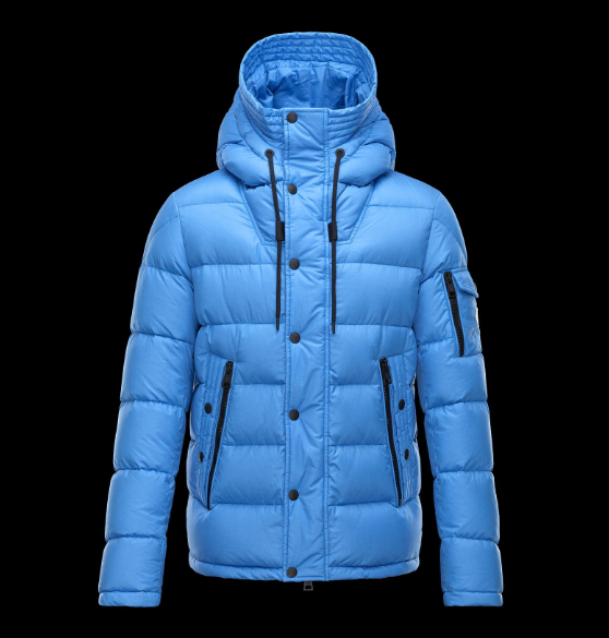 Moncler Basile Men Jacket Sky Blue