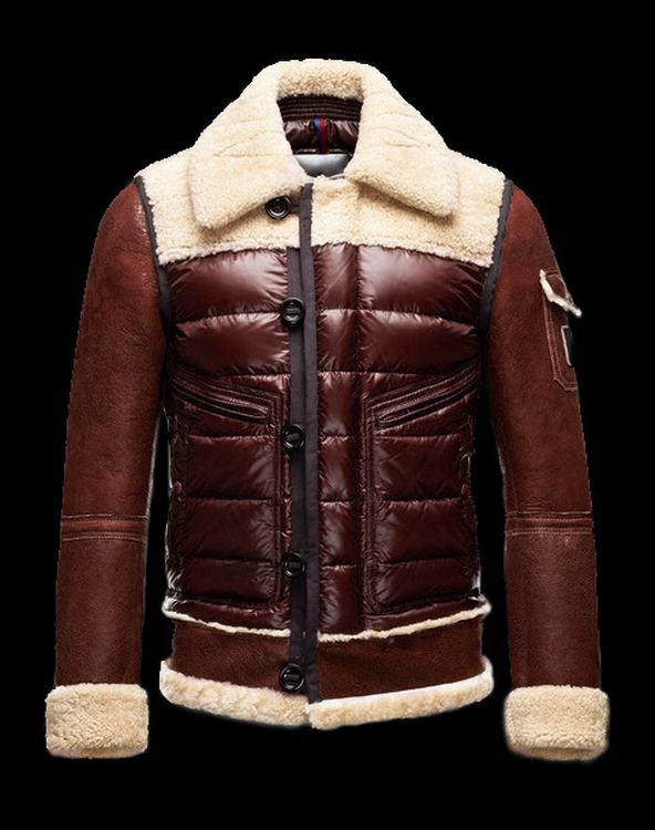 Moncler Delacroix Men Jacket Wine Red Brown White