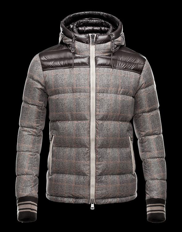 Moncler Eusebe Men Jacket Grey Brown