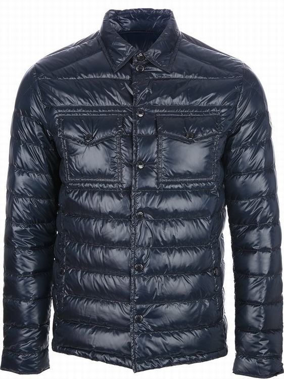 Moncler Gergoire Men Jacket Grey Blue