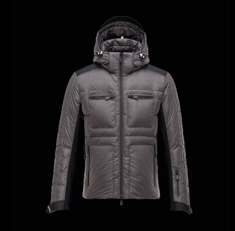 Moncler Grenoble Blagnac Men Jacket Grey Brown