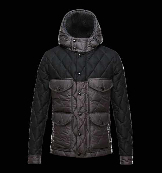 Moncler Hastiere Men Jacket Brown Black
