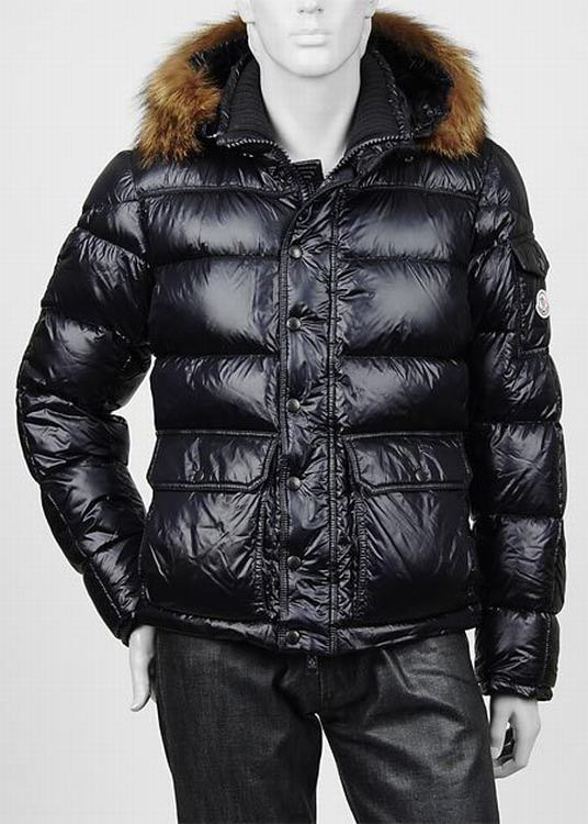 Moncler Hubert Men Jacket Dark Blue
