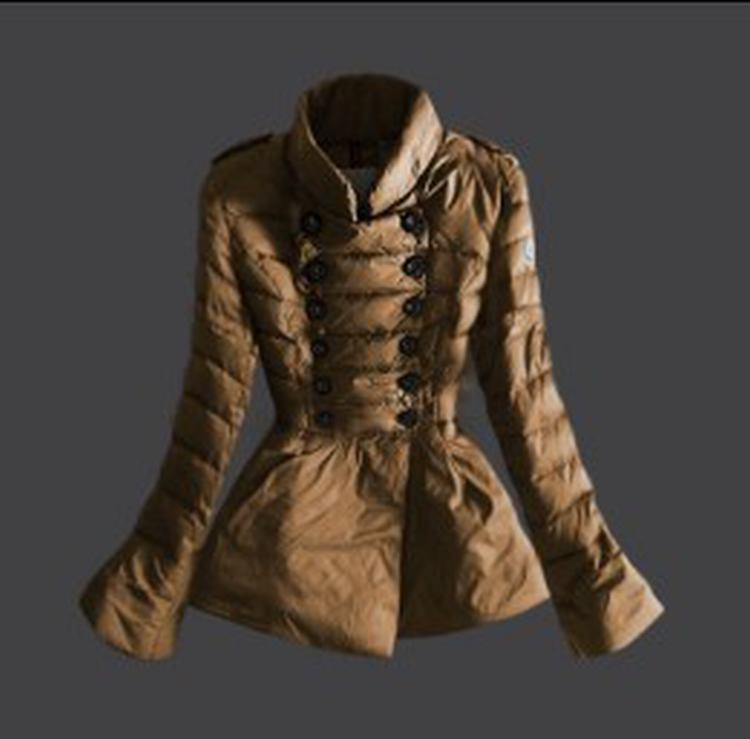 Moncler 17 Women Jacket Brown