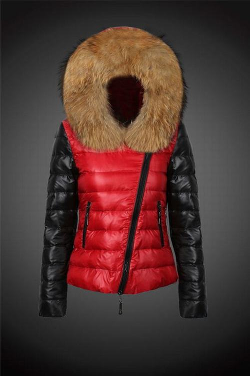 Moncler 2 Women Jacket Red Black