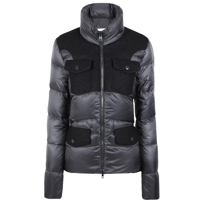 Moncler 2014FW Women Jacket Grey Black