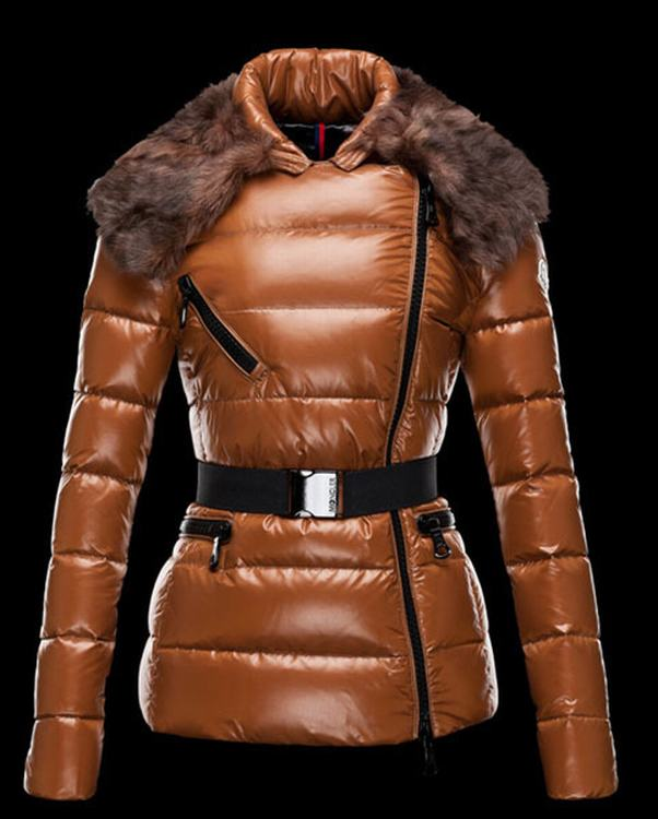 Moncler Faucon Women Jacket Brown Brown