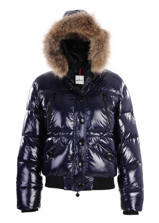 Moncler Hubert Women Jacket Dark Blue