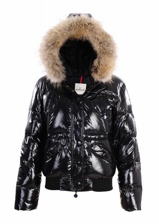Moncler Hubert Women Jacket Gloss Black