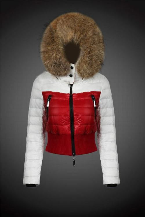 Moncler Jackets One Women Jacket White Red