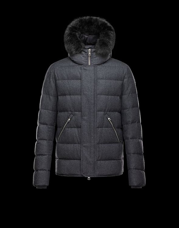 MONCLER BERNIER Men Gray Black