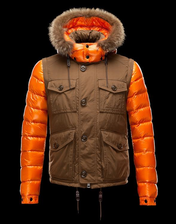 MONCLER BIENVENU Men Brown Orange