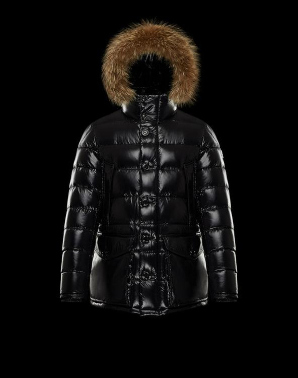 Moncler CLUNY Women Down Jacket With Fur Collar Glazed Black