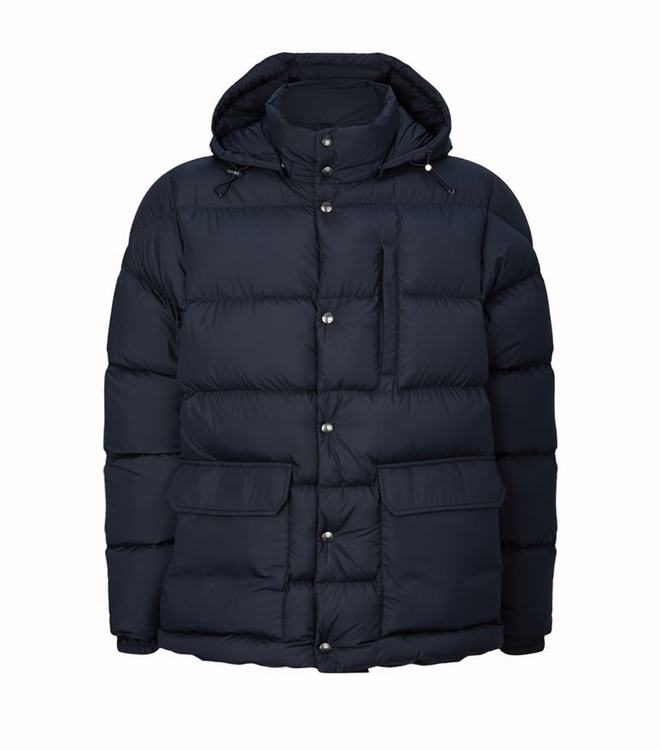 Moncler ROLLAND Men Quilted Down Jacket Blue