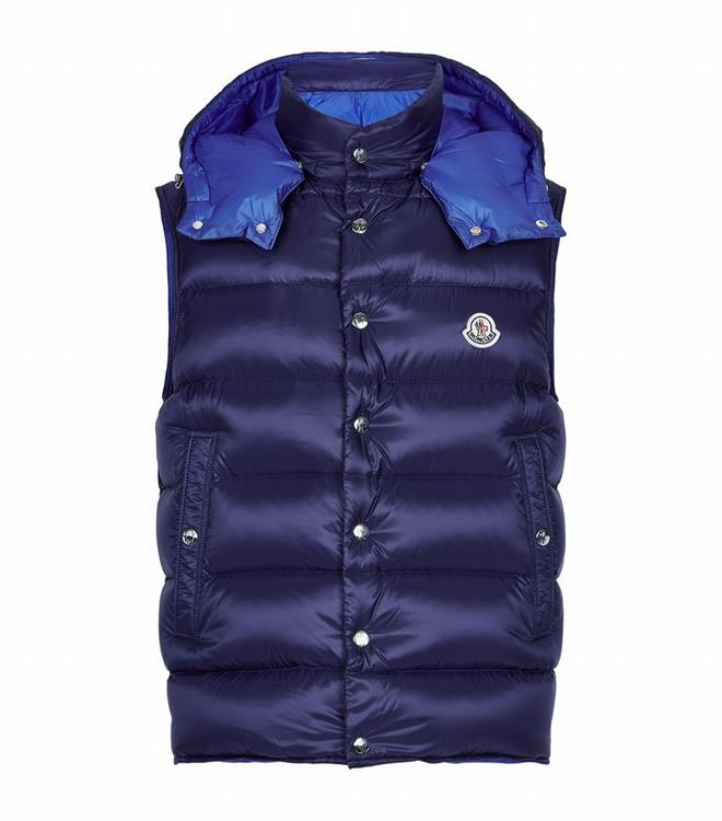 MONCLER BILLECART MENS Billecart Padded Gilet Blue