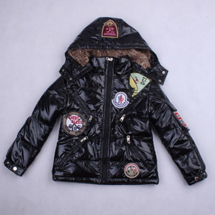 Moncler Badge 01 Kids Jacket Black