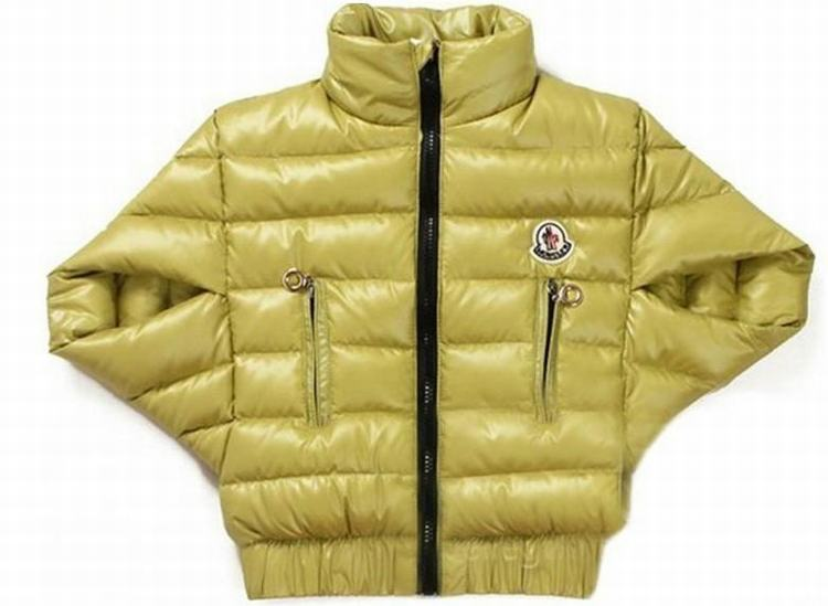 Moncler Cloak Kids Jacket Yellowish Brown