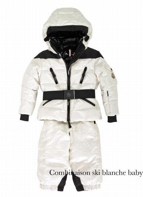 Moncler Combinaison Ski Blanche Baby Kids Suits White