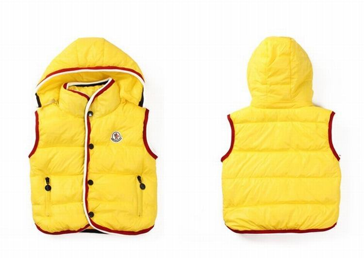 Moncler Down Sleeveless Vest 12 Kids Jacket Yellow