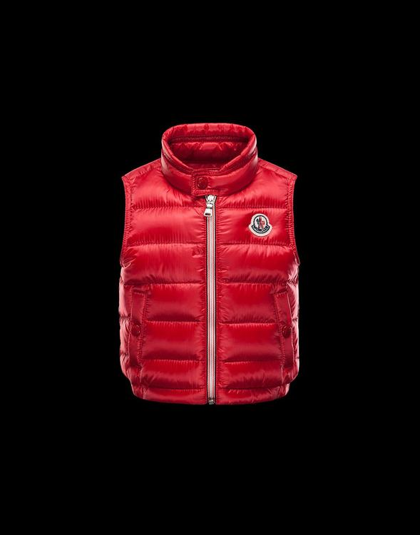 Moncler Enfant Amaury Kids Sleeveless Jacket Red