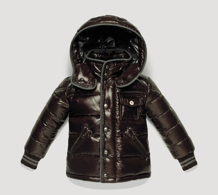 Moncler Enfant Borrome Kids Jacket Red Brown