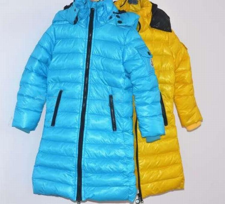 Moncler Enfant Moka Kids Jacket Blue Yellow