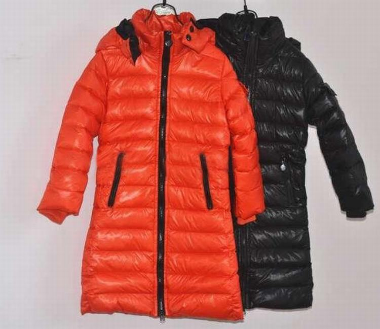 Moncler Enfant Moka Kids Jacket Orange Black