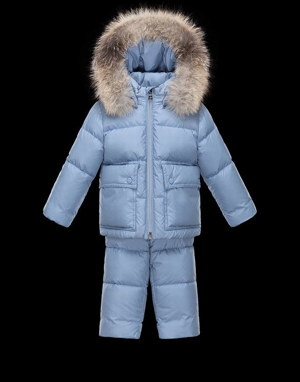 Moncler Gael Kids Suits Light Blue