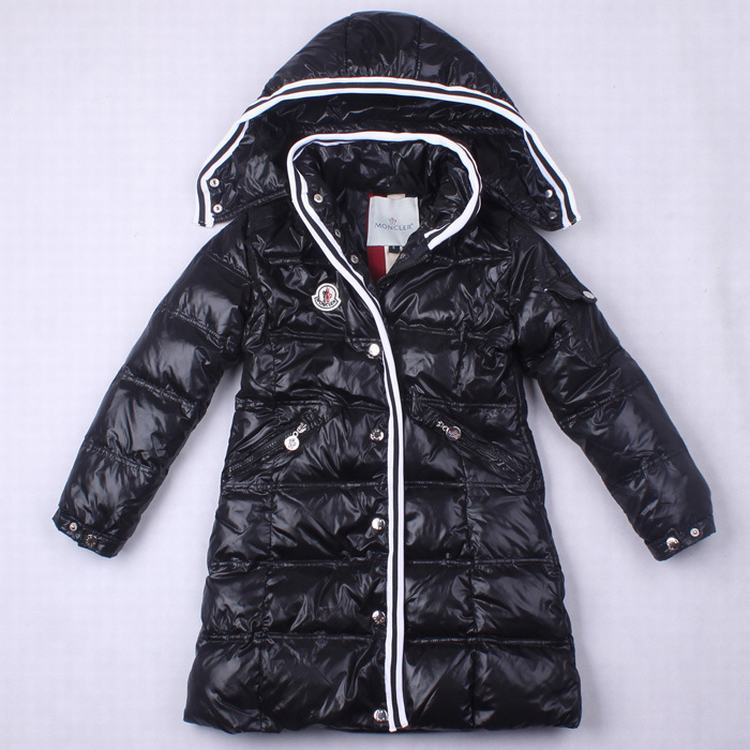 Moncler Quancy 01 Kids Long Jacket Dark Blue