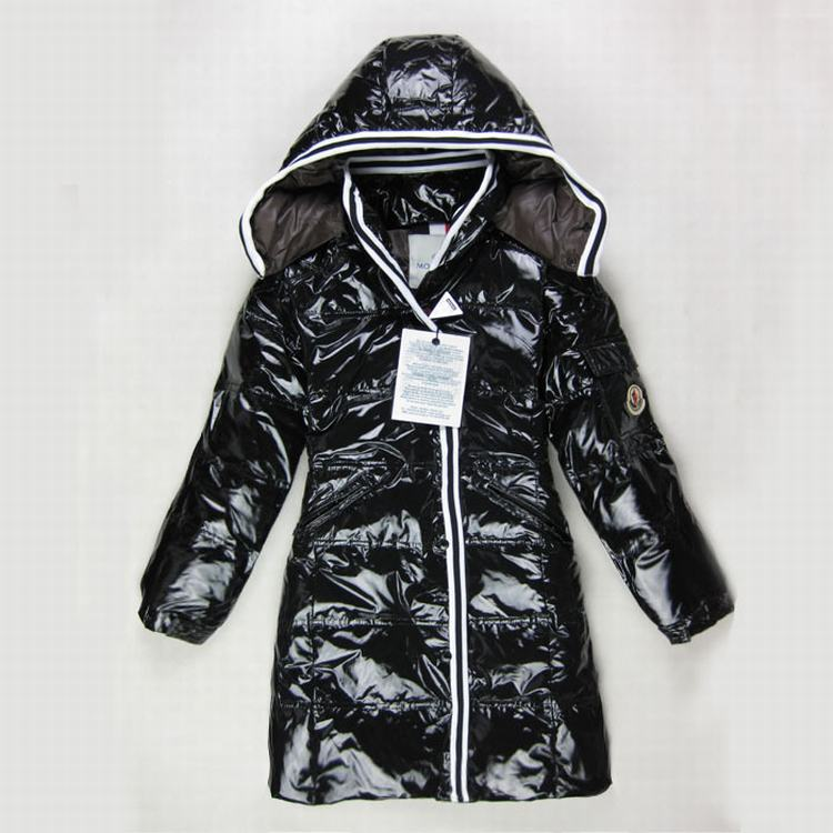 Moncler Quancy Kids Long Jacket Black