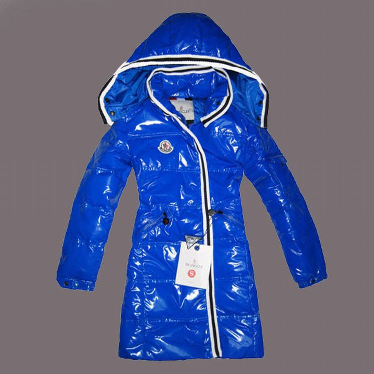 Moncler Quancy Kids Long Jacket Blue