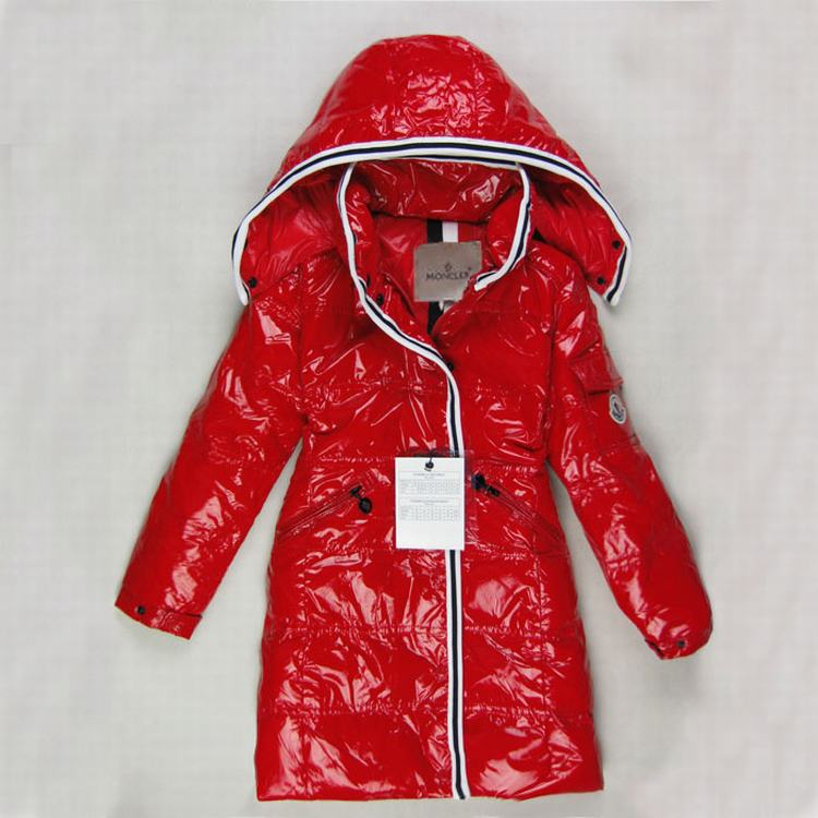 Moncler Quancy Kids Long Jacket Red