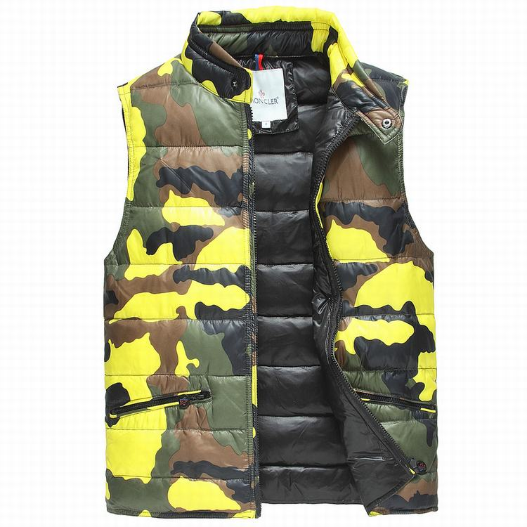 MONCLER CAMO MEN VEST Yellow